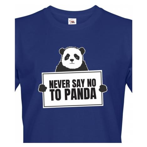 Pánské tričko s potiskem NEVER SAY NO TO PANDA - tričko pro správné geeky BezvaTriko