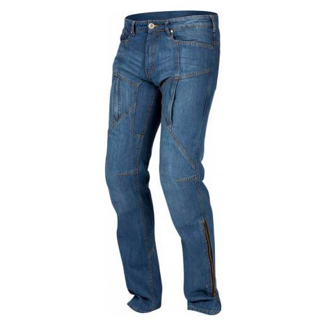 Pánské Jeansové Moto Kalhoty Rebelhorn Hawk Modrá