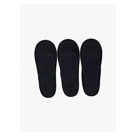 GATE Sada tří párů jednoduchých bezešvých ponožek