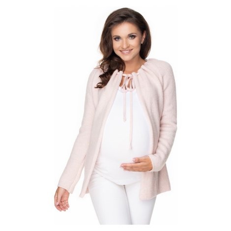 Světle růžový těhotenský kardigan 30074