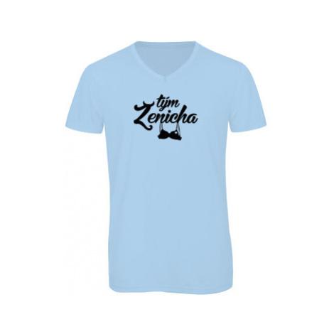 Pánské triko s výstřihem do V Tým ženicha
