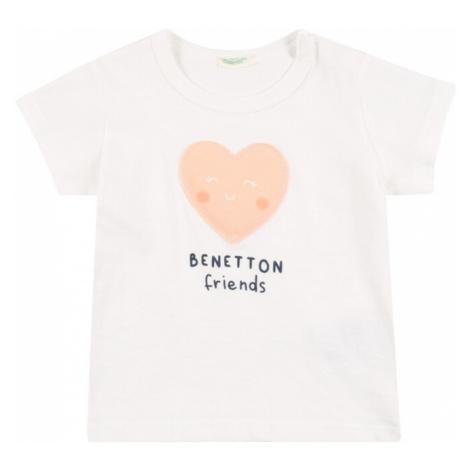 UNITED COLORS OF BENETTON Tričko bílá / růžová / tmavě modrá