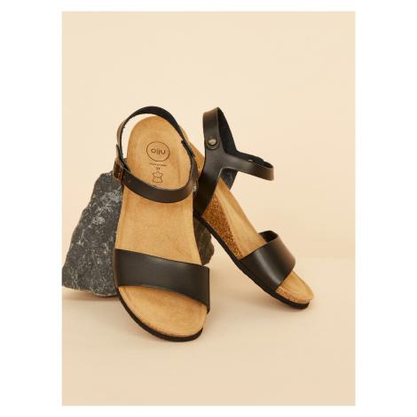 OJJU černé kožené sandály