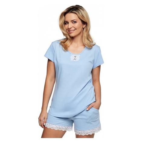 Luxusní dámské pyžamo Lauren modré Cana
