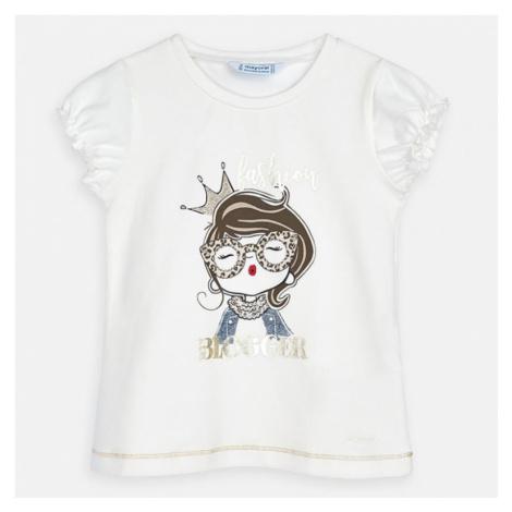 Dívčí triko Mayoral 3008 | smetanová
