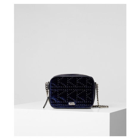Kabelka Karl Lagerfeld K/Kuilted Studs Cam Bag Velvet