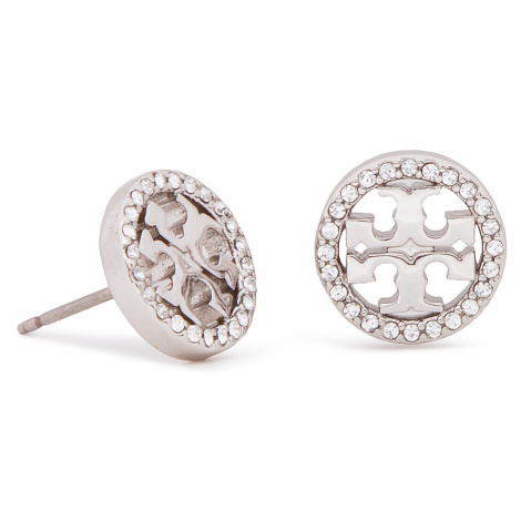 Tory Burch Crystal Logo Circle Stud Earring 53422
