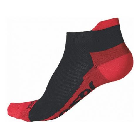 Ponožky SENSOR Race Coolmax Invisible černá/červená