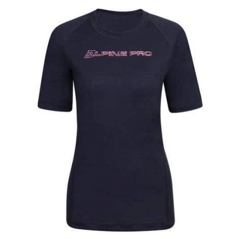 ALPINE PRO Merina 3 Modrá / Tyrkysově Modrá Dámské triko z merino vlny LTST596602PA