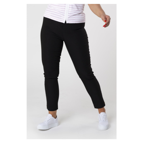 cigarette pants with an elastic waistband