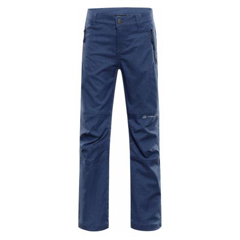 ALPINE PRO PLATAN 4 Dětské softshellové kalhoty KPAS158602 mood indigo