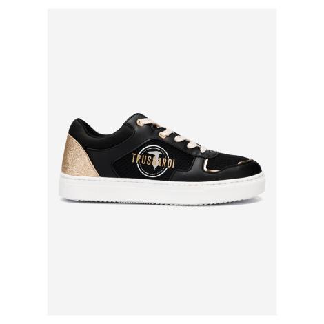 Boty Trussardi Sneaker Ecoleather Glitter Mesh Černá