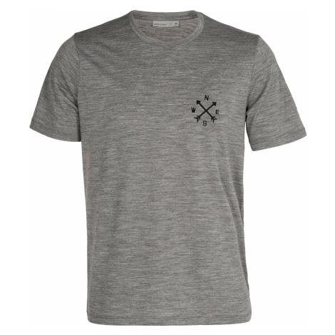 Pánské triko krátký rukáv ICEBREAKER Mens Tech Lite II SS Tee Nonetwork, Gritstone HTHR (vzorek)