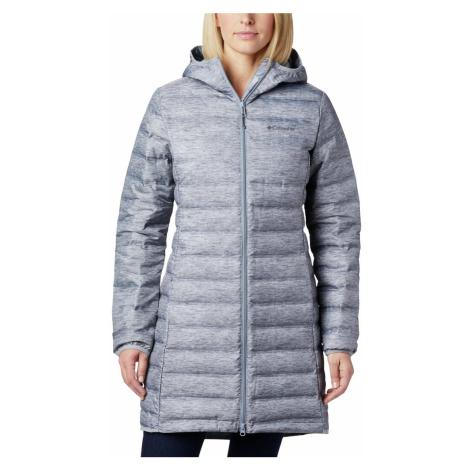 Bunda Columbia Lake 22™ Down Long Hooded Jacket W - šedá