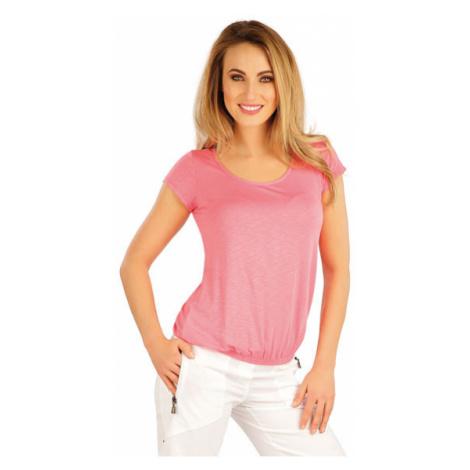 Dámské tričko s krátkým rukávem Litex 5A020 | růžová