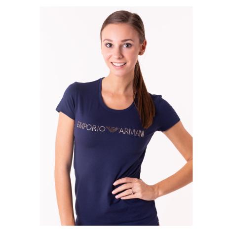 Dámské tričko Emporio Armani 163139 8A263 Tm. modrá