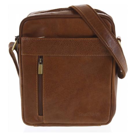 Pánská kožená taška přes rameno hnědá - SendiDesign Lennon Sendi Design