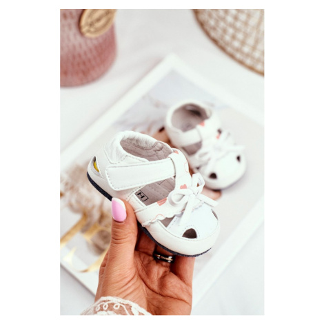 Child's Sandals For Girls White Leather Maentra Kesi