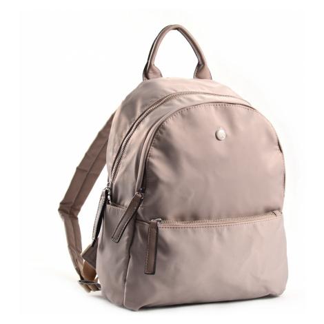 Bright Elegantní dámský batoh větší A5 vybavený béžový, 26 x 12 x 31 (BR18-W117-1618-05TX)