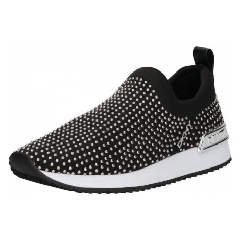 DKNY Slip on boty 'MAREL' černá / stříbrná