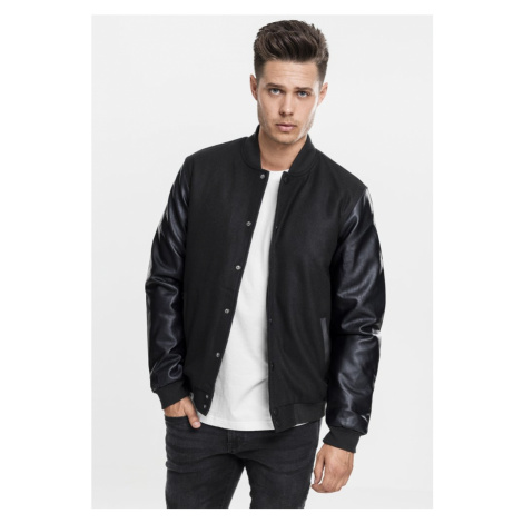 Oldschool College Jacket - black/black Urban Classics