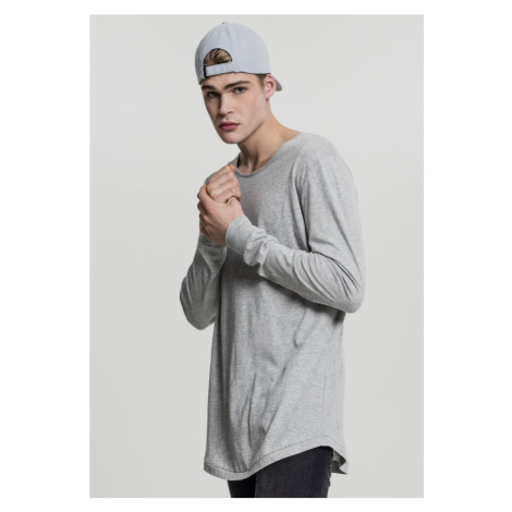 Long Shaped Fashion L/S Tee - grey Urban Classics