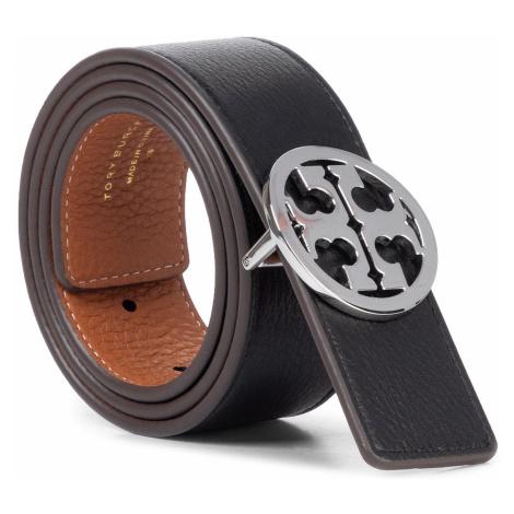 "Dámský pásek TORY BURCH - 1.5"" Reversible Logo Belt 56644 Black/New Cuoio/Silver 002"