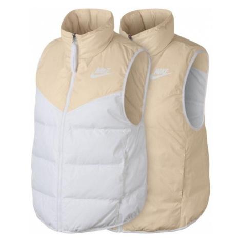 Dámská péřová vesta Nike Sportswear Tělová / Bílá