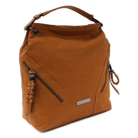 Hnědá velká dámská kabelka do ruky a přes rameno Creissant Lucky Queen (PL)