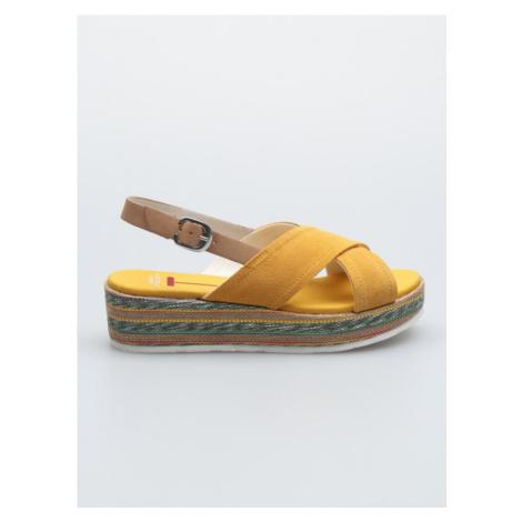 Jenna Klínová obuv U.S. Polo Assn Žlutá