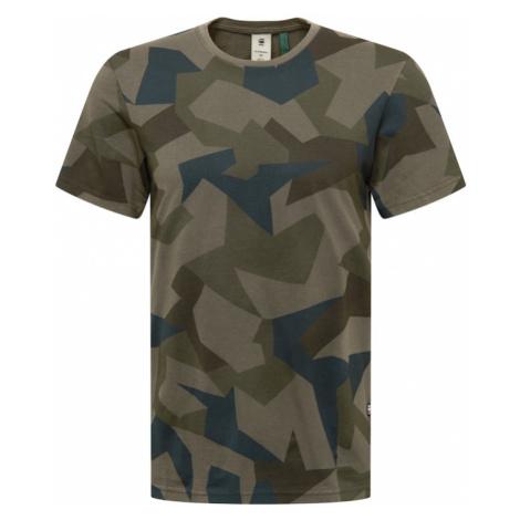 G-Star RAW Tričko khaki / olivová / tmavě zelená / smaragdová