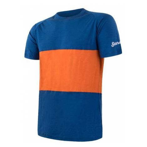 Sensor Merino Air PT Pánské triko krátký rukáv blue/orange
