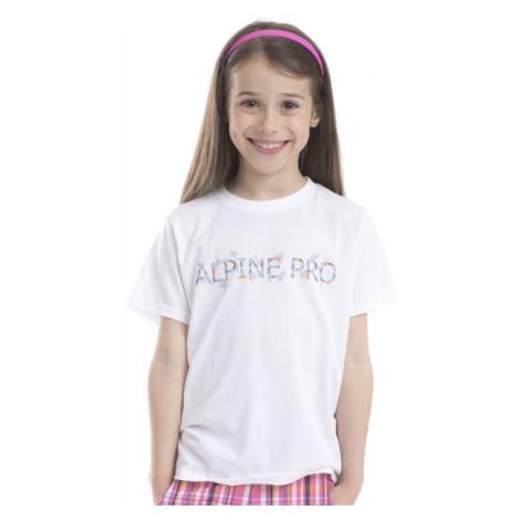 Dětské tričko Alpine Pro CONSALVO - bílá