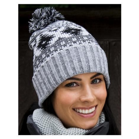 Zimní čepice Deluxe šedá Beechfield