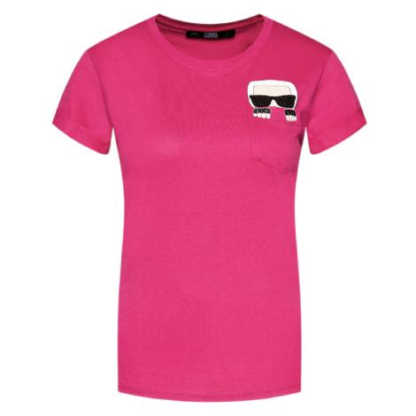 Fuchsiové tričko - KARL LAGERFELD
