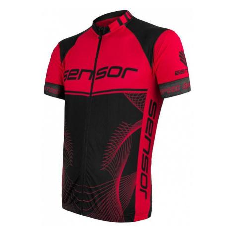 Pánský cyklodres SENSOR Cyklo Team Up kr. rukáv černá/červená