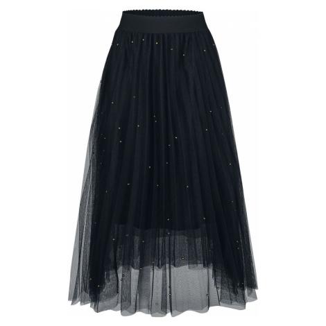 Banned Retro Síťovinová sukně s kamínky Sophia Sukně černá