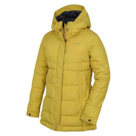 Husky Nilit L, žlutozelená Dámský hardshell plněný kabátek