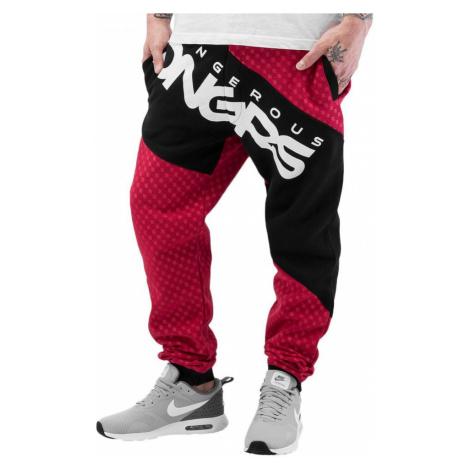 Dangerous DNGRS kalhoty pánské tepláky Toco Sweatpants Red/Black