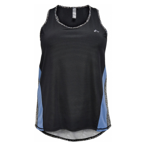 ONLY PLAY Sportovní top 'Judiea' černá / bílá / kouřově modrá