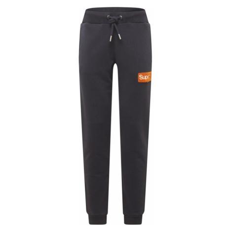Superdry Kalhoty černá / oranžová