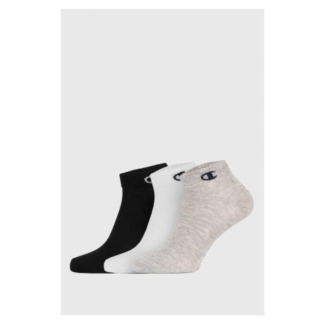 3 PACK kotníkových barevných ponožek Champion