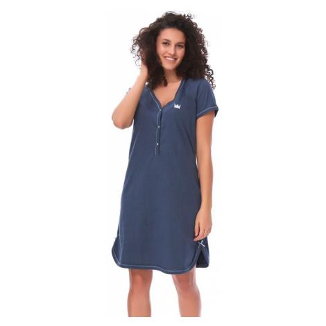 DN Nightwear Dámská bavlněná košile Lor tmavě modrá