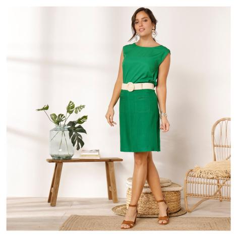 Blancheporte Viskózová sukně s kapsami zelená