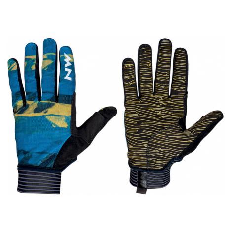 Cyklistické rukavice Northwave Air Full Fingers modré North Wave