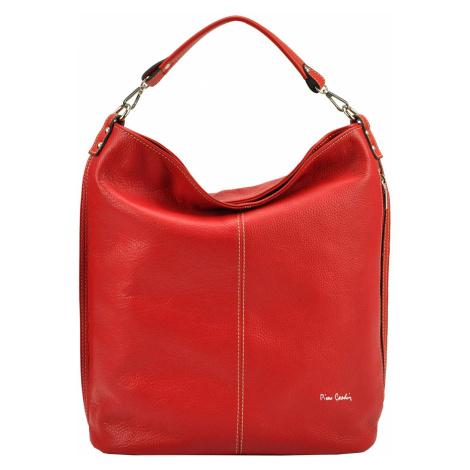 Luxusní kožená kabelka Pierre Cardin NPA 505 červená