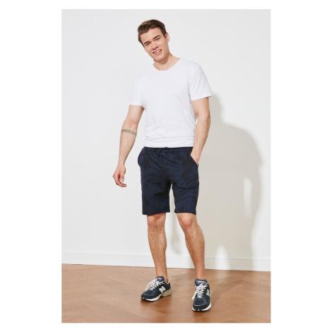 Trendyol Navy Blue Men Regular Fit Shorts & Bermuda