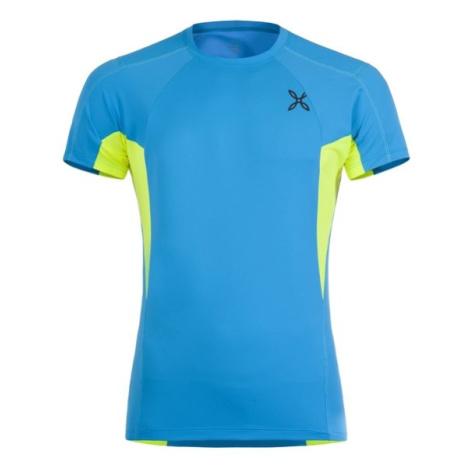 Montura tričko Outdoor Perform, modrá/žlutá