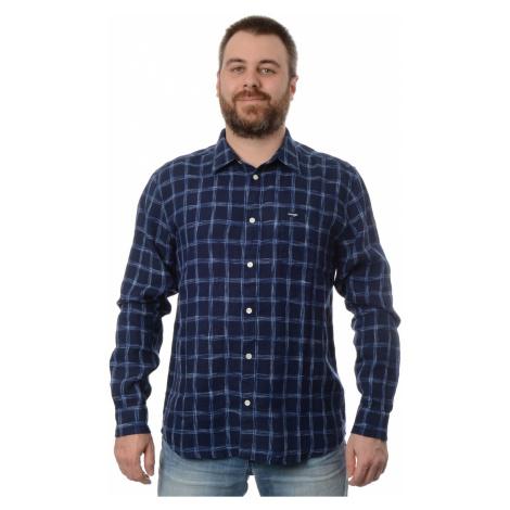 Košile Wrangler 1PKT Limoges Blue pánská tmavě modrá