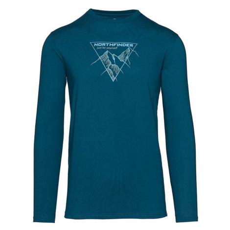 NORTHFINDER VANPY Pánské tričko dlouhý rukáv TR-3524OR281 modrá